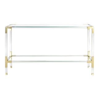 Jacques Acrylic & Brass Console by Jonathan Adler For Sale