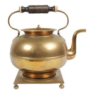 Brass Kettle On Stand For Sale