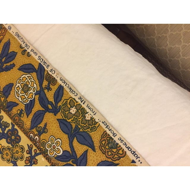 Stunning heavy weight vintage linen fabric from Greeff. I can't describe how crisp and thick this fabric is. Vibrant royal...