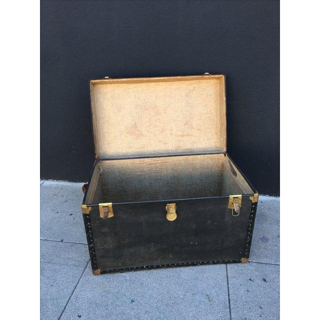 Distressed Vintage Steamer Trunk - Image 5 of 5