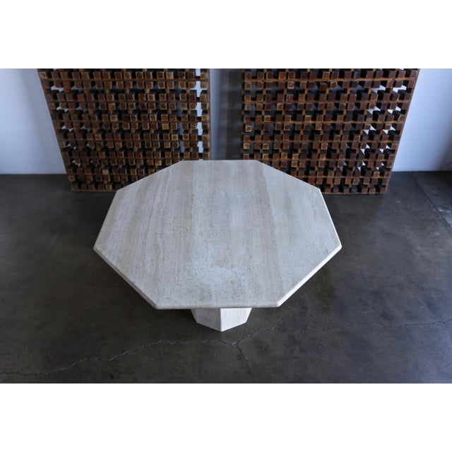 Mid 20th Century Octagonal Travertine Centre Table, Circa 1975 For Sale - Image 5 of 7