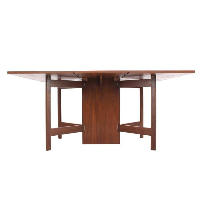 George Nelson Walnut Drop Leaf Dining Table Gate Leg For Sale - Image 10 of 10