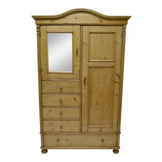 Pine Bonnet Top Compactum Armoire
