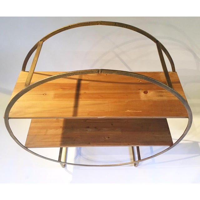 Two Tiered Bronze-Tone Circular Shelf - Image 4 of 4
