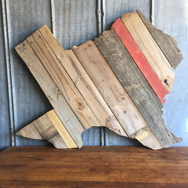 Reclaimed Barn Wood Texas Sign - Image 3 of 7