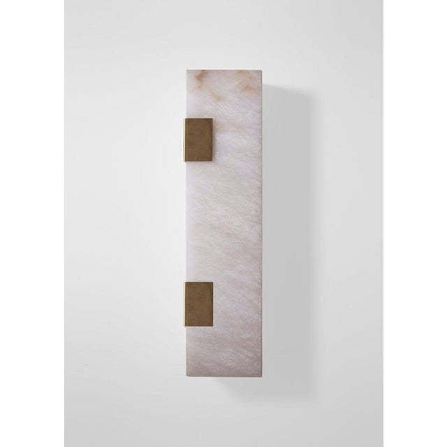 Contemporary Modern Contemporary 003-2c Sconce in Brass by Orphan Work For Sale - Image 3 of 9