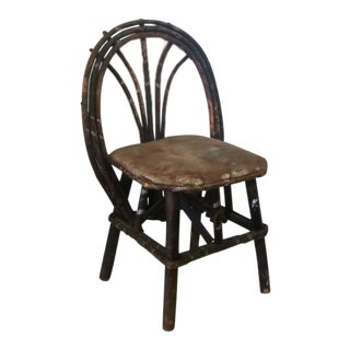 Antique Willow Child's Chair, Adirondack Style (C 1900s) For Sale