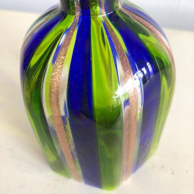 Murano L Campanella Murano Art Glass Vase For Sale - Image 4 of 6
