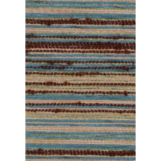 B. Berger Blue & Brown Chenille Fabric 5 Yards - Image 1 of 2