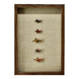 Antique Fishing Lures Framed For Sale