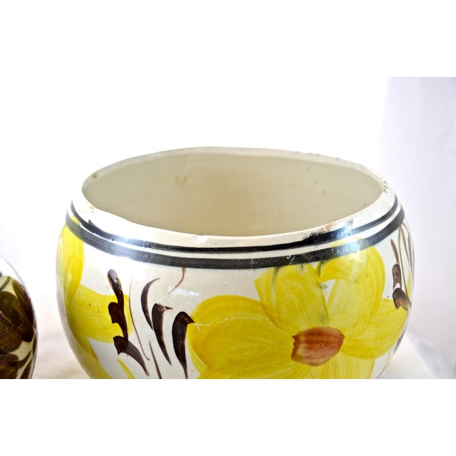 Yellow Mexican Flower Pots - A Pair For Sale In Chicago - Image 6 of 6