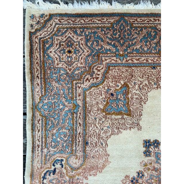 "1970s Vintage Ivory Persian Tabriz Rug - 5' x 5'5"" For Sale - Image 4 of 13"