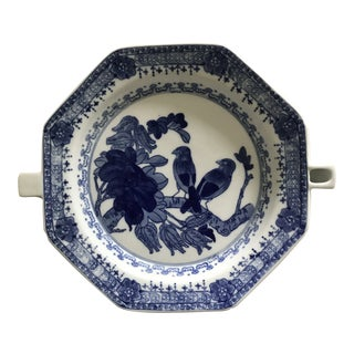 Chinese Export Underglaze Blue Porcelain Hot Water Warming Dish For Sale