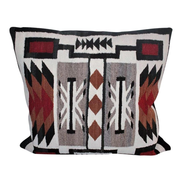 Large Geometric Navajo Indian Weaving Pillow For Sale