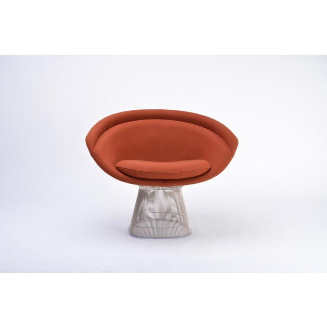Red Warren Platner Lounge Chair for Knoll International, 1966 For Sale - Image 8 of 8