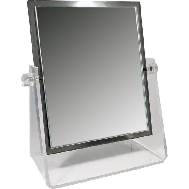 Vintage Lucite Adjustable Tabletop Mirror - Image 10 of 10