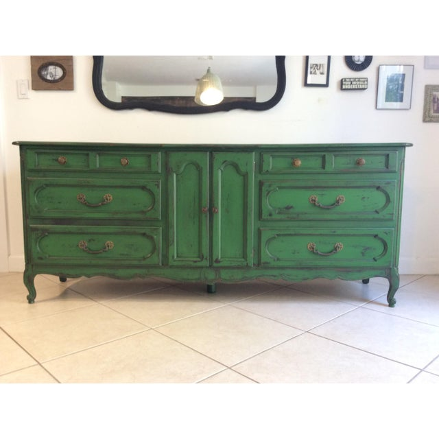 Green 20th Century Provencal Style Credenza For Sale - Image 8 of 8