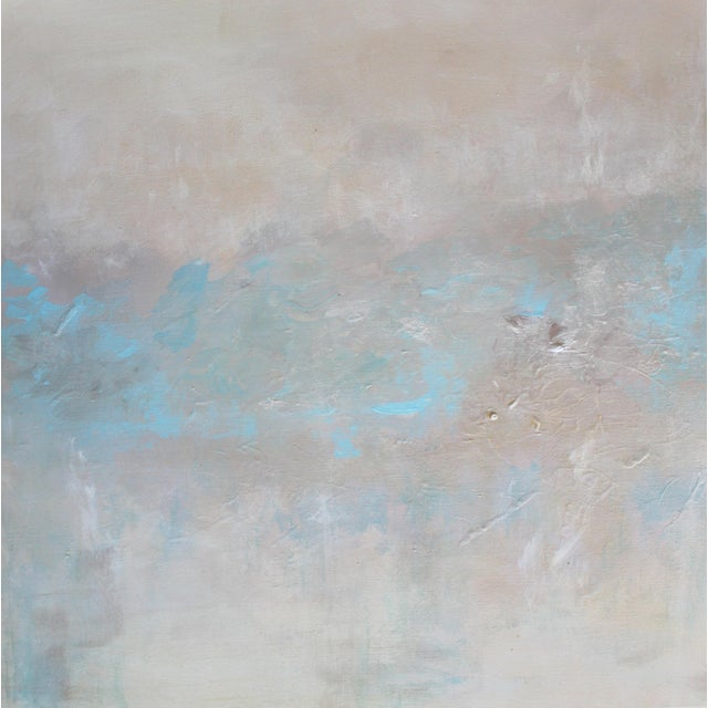 Abstract Textured Pearl Painting - Image 2 of 3