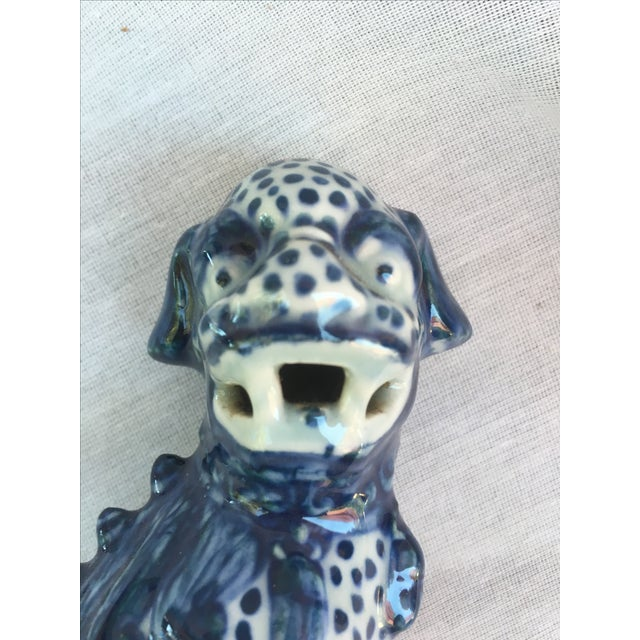 Blue & White Foo Dogs - A Pair - Image 8 of 9