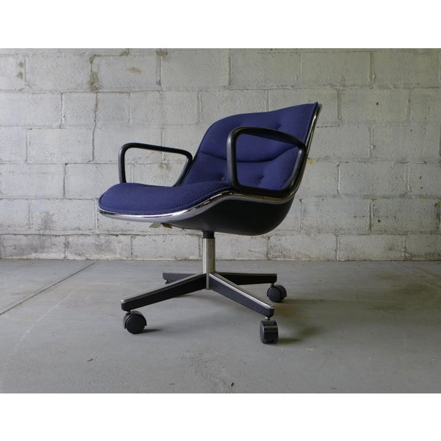 Mid Century Modern Pollock Office Chair by Knoll - Image 4 of 8