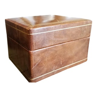 Early 20th Century Antique Leather Box For Sale