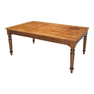 Antique American All Original Wisconsin Made Farm House Dining Table For Sale