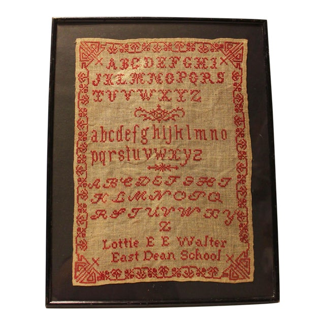 English 19th Century Embroidery Sampler - Image 1 of 5