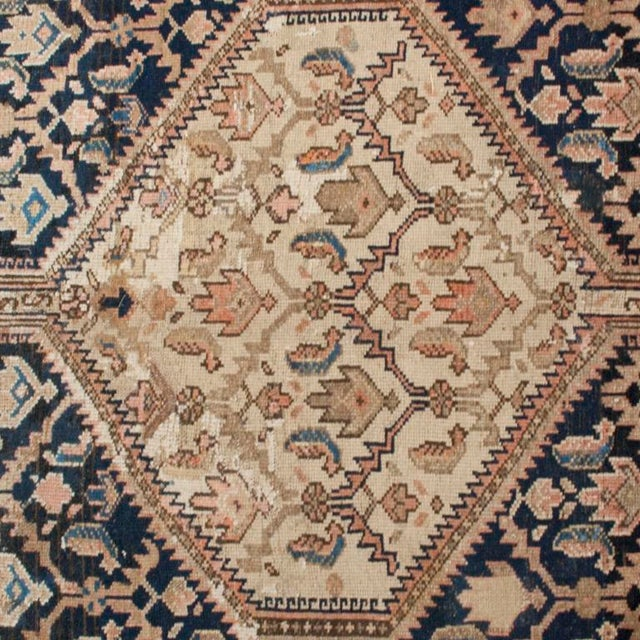 """Antique Malayer Carpet - 5'3"""" x 11'10"""" For Sale - Image 4 of 6"""