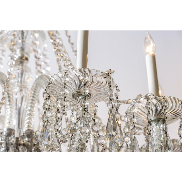 Pair of Cut Crystal Chandeliers For Sale In West Palm - Image 6 of 9