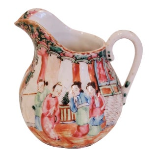 Rose Medallion Porcelain Cream Pitcher For Sale