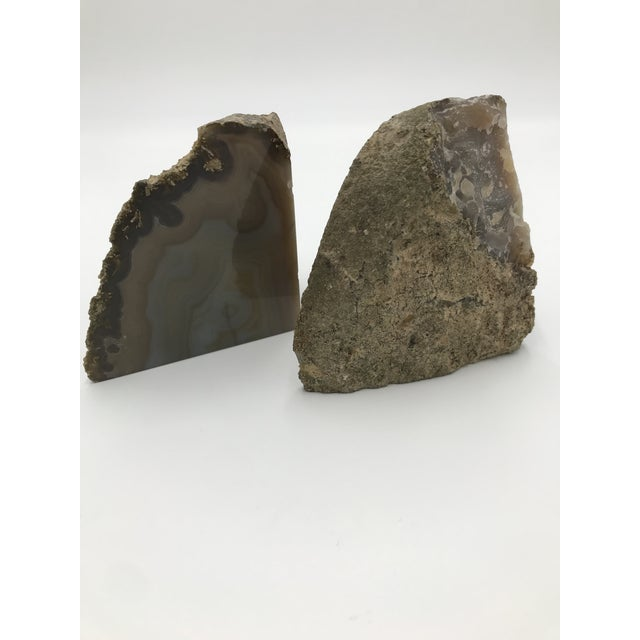 2010s Contemporary Agate Bookends - a Pair For Sale - Image 5 of 5