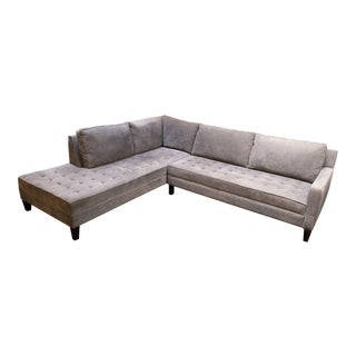 ZGallerie Contemporary Gray Vapor Sectional