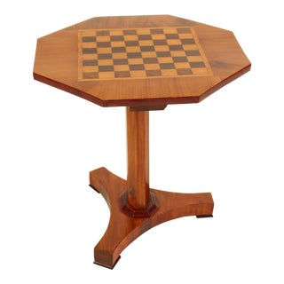 English Regency Style Checker Board Top Occasional Table For Sale
