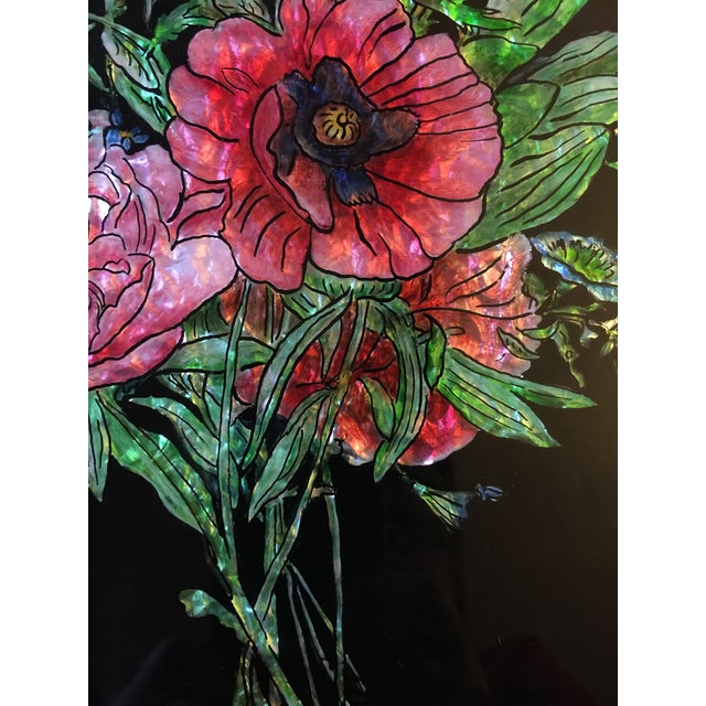 1920s Victorian Tinsel Painting For Sale - Image 5 of 6