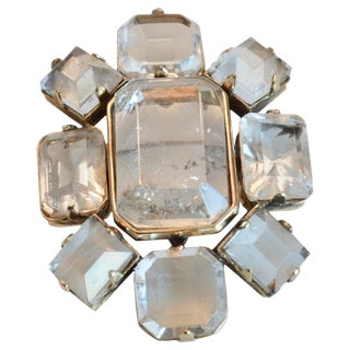 Goossens Paris Rock Crystal Brooch For Sale