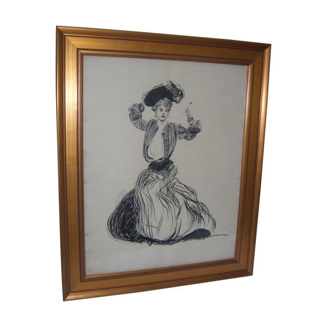 Vintage 1906 Original Drawing by John G Wilson - Image 1 of 7