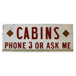 Vintage Cabins Sign