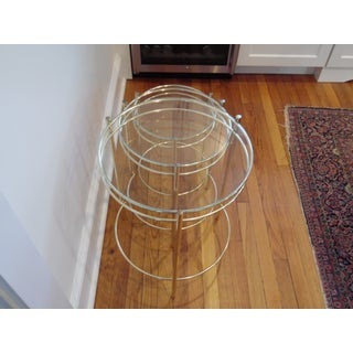 20th Century Hollywood Regency Round Brass and Glass Nesting End Tables - Set of 3 Preview