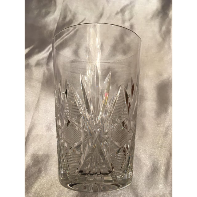 Vintage Crystal Water Glass- Set of 8 For Sale - Image 4 of 11