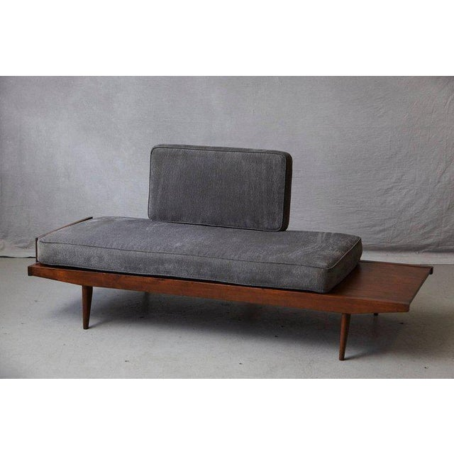 French Melior Marchot daybed with two cushions. The smaller one can be used as a back support against a wall or as a...