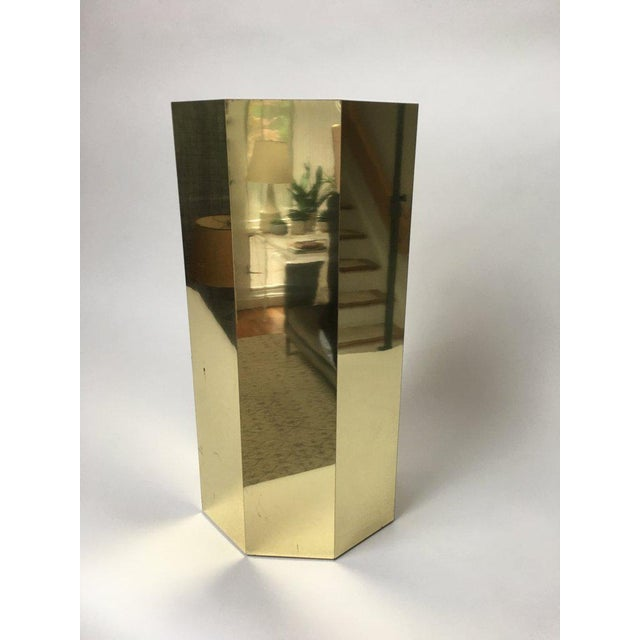 Paul Evans Style Octagonal Brass Pedestal For Sale In New York - Image 6 of 9