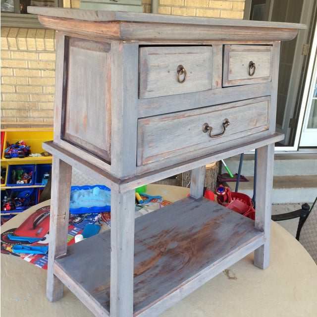 Refinished Three Drawer Entrance Table - Image 3 of 4