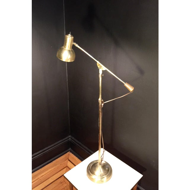 Industrial Style Brass Lamps - a Pair For Sale - Image 4 of 7