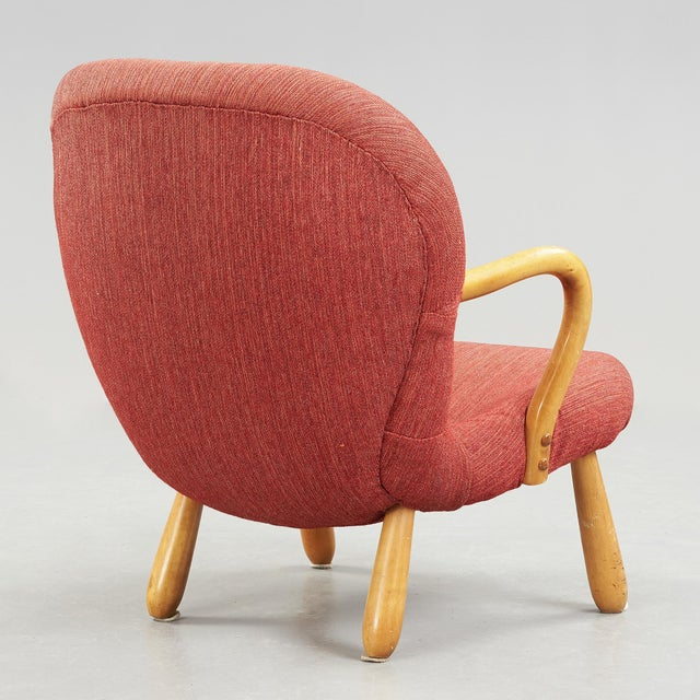 """Mid-Century Modern 1940s """"Clam"""" Easy Chair Designed by Philip Arctander, Denmark For Sale - Image 3 of 5"""