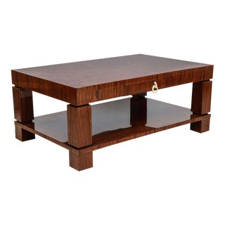 Fine Art Deco Palisander Cocktail or Low Table, France, Dominique et Cie For Sale