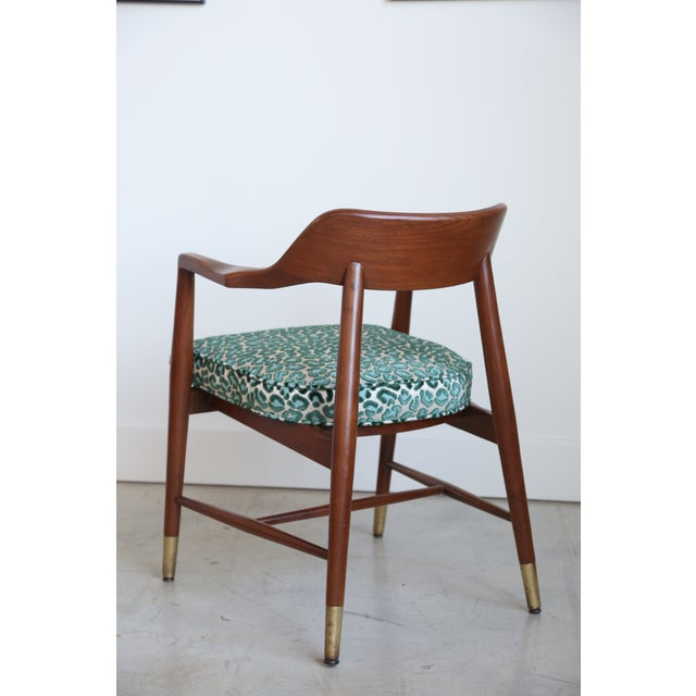 Mid-Century Modern Armchair in New Animal Print - Image 5 of 5