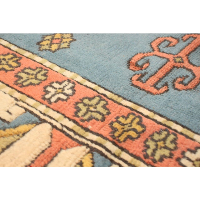 Textile Hand-Knotted Turkish Rug For Sale - Image 7 of 9