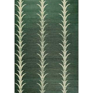 Sample - Schumacher X Celerie Kemble Acanthus Stripe Wallpaper in Shadow Preview