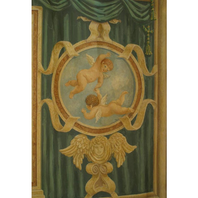 Large 19th Century Italian Neoclassical Mural Style Canvas Painting For Sale - Image 4 of 5