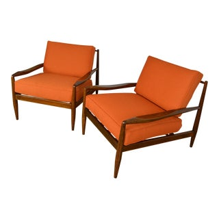 Adrian Pearsall Craft Associates Pair of 843-C Lounge Chairs For Sale